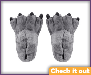 Grey Paw Slippers.