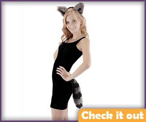 Raccoon Ears and Tail Set.