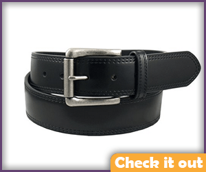 Black Belt with Silver Buckle.