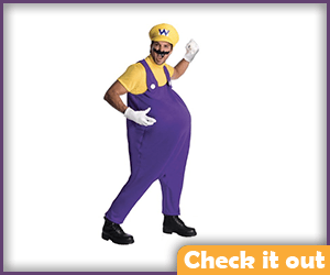 Wario Costume Complete Outfit.