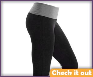 Black and gray yoga pants.