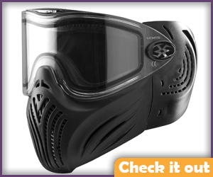 Black Paintball Mask.
