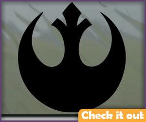 Black Rebel Alliance Sticker (for life vest).