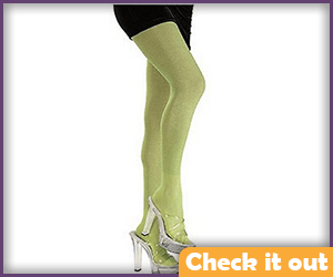 Lime Glitter Tights.