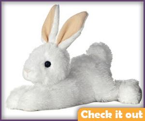 White Bunny Plush.