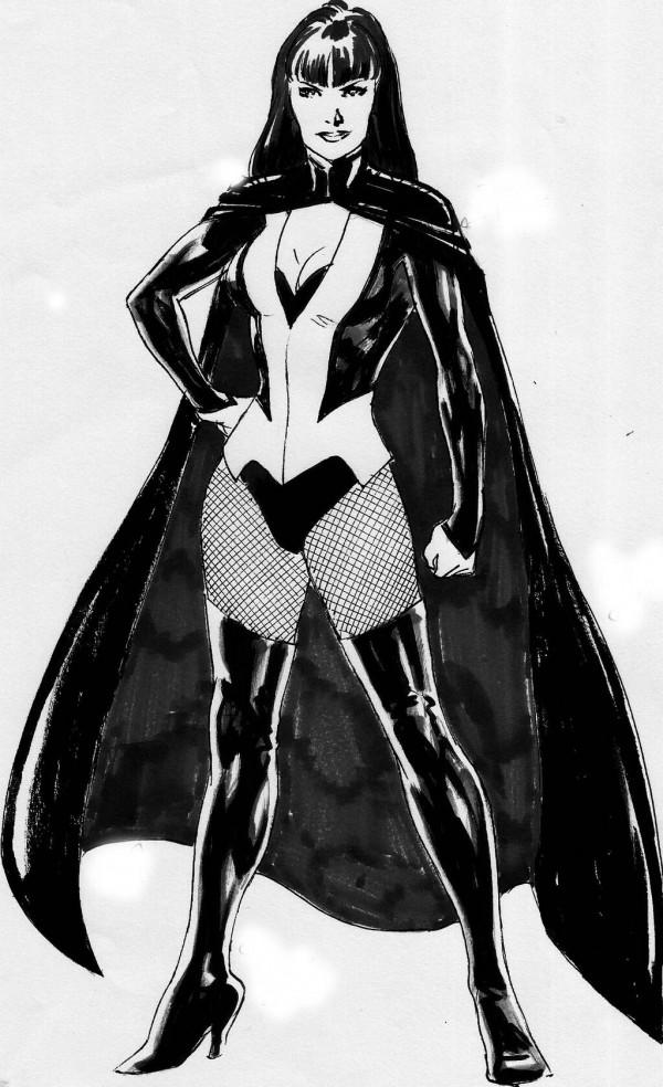 Zatanna New 52 Costume Redesign Reference Image.