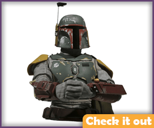 Boba Bust Statue.