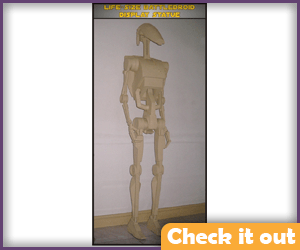 Like-Size Battle Droid Statue Kit.