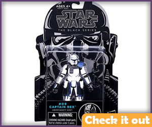 Captain Rex Black Series Figure.