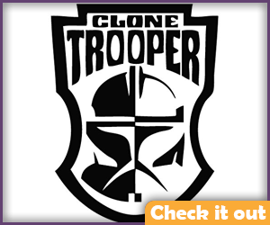 Clone Trooper Sticker.