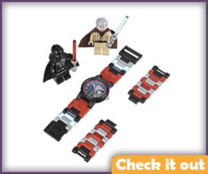 Lego Vader and Obi-Wan Kenobi Watch Set.