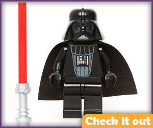 Darth Vader Lego and Lightsaber.