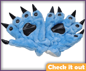 Blue Paw Gloves.