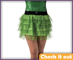 Riddler Themed Skirt.