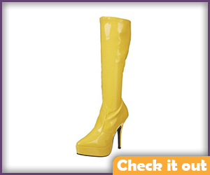 Yellow Heeled Boots.