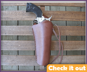 Right Leather Gun Holster.