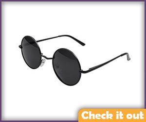 Black Round Sunglasses.