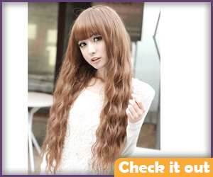 Brown Long Wig with Bangs.
