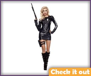 Cop Terminator Long Sleeve Mini Dress.