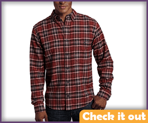 Red and Brown Plaid Shirt.
