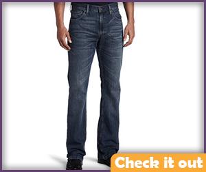 Men's Blue Jeans.