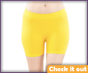 Yellow Stretch Shorts.