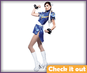 Metallic Look Chun-Li Costume Set.