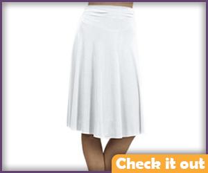 White Flare Skirt.