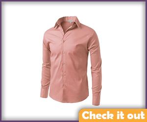 Salmon Dress Shirt.