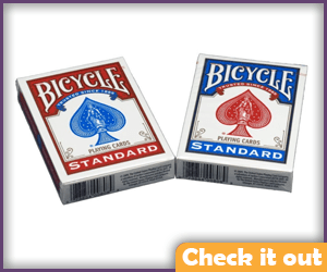 Standard Poker Playing Cards.