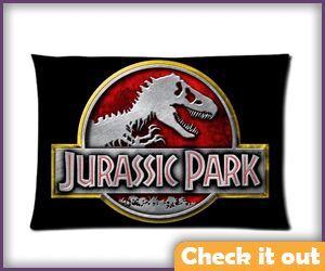 Jurassic Park Pillow Case.