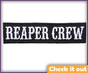 Black Reaper Crew Patch.