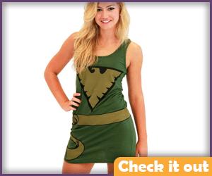 Jean Grey Costume Green Dress.