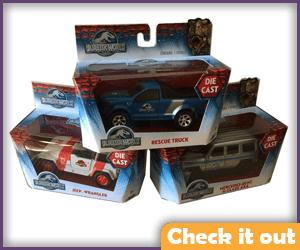 Jurassic Park Vehicle Models.