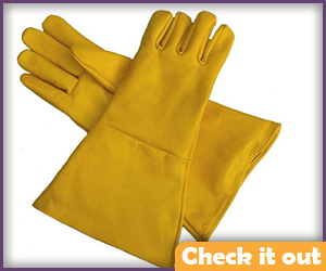Yellow Gauntlet Gloves.