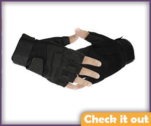 Black Fingerless Tactical Gloves.
