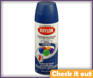 Dark Blue Satin Finish Spray Paint.