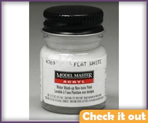 Testors Flat White Paint.