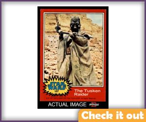 Tusken Raider Trading Card.