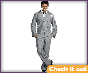 Gomez Addams Costume Grey Striped Suit.