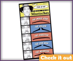 Pencil Mustache Set.