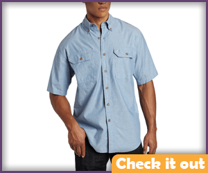 Light Blue Men's Short Sleeve Shirt.
