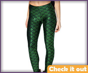 Green Scale Leggings.