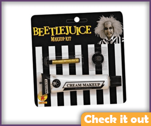 Beetlejuice Costume Makeup.