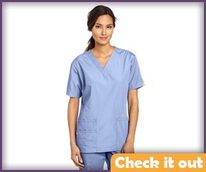 Blue Scrub Top.