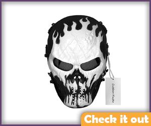 Crossbones Costume Paintball Mask.