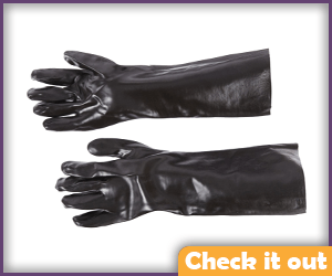Black Rubber Gloves.