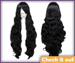 Long Black Wavy Wig.