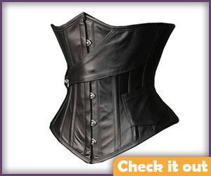 Black Leather Look Corset.