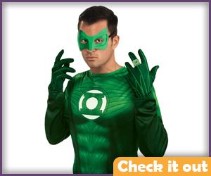 Green Lantern Costume Movie Gloves.